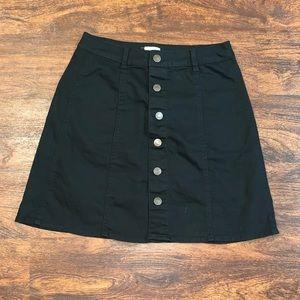Mossimo black denim skirt